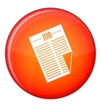 Newspaper with the headline Job icon flat style vector image