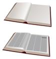 open books vector image