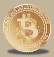 yellow gold bitcoin vector image