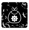 Bib icon grunge style vector image