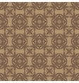 Orange Ornamental Seamless Line Pattern vector image