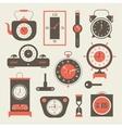 Clock set vector image