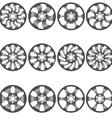 Car alloy wheels vector image vector image