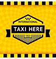 Taxi symbol with checkered background - 05 vector image vector image