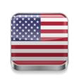 Metal icon of USA vector image