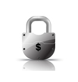 padlock us dollar vector image vector image