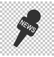 TV news microphone sign  Dark gray vector image