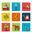 agriculture production set icons vector image