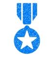 Army Star Award Grainy Texture Icon vector image