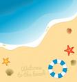 Beach graphic vector image