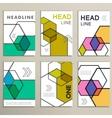 hexagon infographics set 6 template for vector image