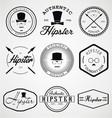 Hipster Badges Labels vector image
