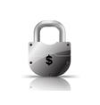 padlock us dollar vector image