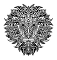 Detailed Lion in aztec style Patterned head on vector image