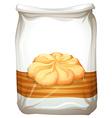 Bag of butter cookies vector image