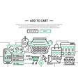 Add to Cart - line design website banner temlate vector image