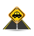 vehicle yellow road street sign vector image