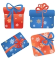 set of gift boxes in different colors and vector image