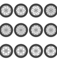 automotive wheel with alloy wheels vector image vector image