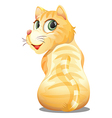 A backview of an orange cat vector image vector image