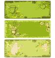 set of green tea banners vector image