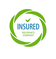 Abstract logo Insurance company vector image