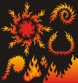 flame elements vector image