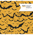 halloween seamless pattern bats silhouettes vector image vector image