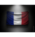 waving flag france on a dark wall vector image vector image