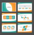Green Orange presentation templates Infographic vector image