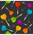 Darts Background Pattern vector image