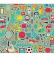 Doodle sports elements vector image