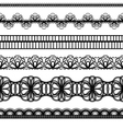 lace borders set vector image