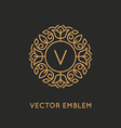 logo design template and monogram concept in vector image