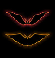 neon symbol glowing brightly the vector image