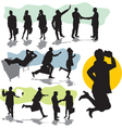 set business people silhouette vector image
