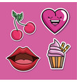 set of fashion patch badges vector image