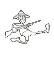 hunter with rifle vector image