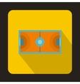 Handball playground icon flat style vector image