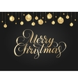 Black and gold Christmas background with glitter vector image vector image