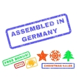 Assembled In Germany Rubber Stamp vector image