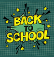 back to school poster comic retro yellow alphabet vector image vector image