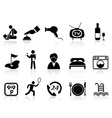 hotel service icons set vector image vector image