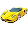 Yellow sports car vector image vector image