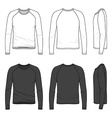 raglan sleeve top vector image
