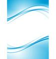 Modern swoosh border folder design template vector image