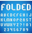 Folded Paper Font vector image vector image