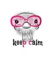 bird head ostrich lettering vector image