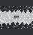 black and gray abstract background lowpoly vector image