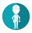 business man construction clipboard helmet shadow vector image